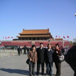 天安門と観光客