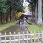 雨の中尊寺