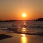 湯の浜の夕日